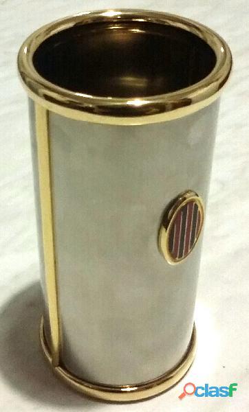 Portagrissini e portatovaglioli in ottone trattamento Galvanico nichel/oro linea Beta Florence nuovo 4