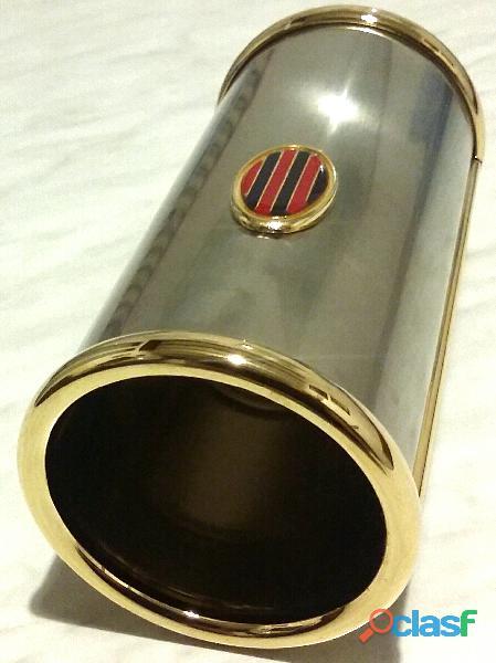 Portagrissini e portatovaglioli in ottone trattamento Galvanico nichel/oro linea Beta Florence nuovo 6