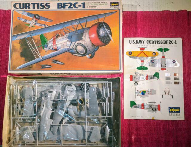 Giocattolo anni 60 scatola montaggio aereo curtiss bf2c-1
