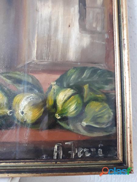 original oil on canvas A ferry 1