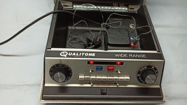 Audiometro-qualitone mn 55416 vasta gamma con custodia e