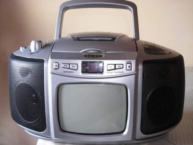 Seleco tv 5 b/n radio lettore cd tv portatile nuovo