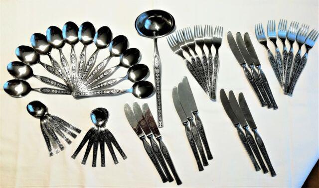 Servizio posate 49 pezzi acciaio inox intarsiato