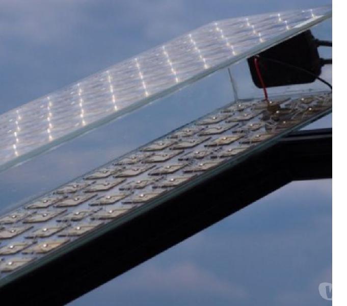 Fresnel pannello solare fotovoltaico acqua aria calda nuovo