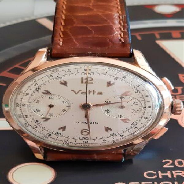 Cronografo vetta acciaio/oro valijoux 23