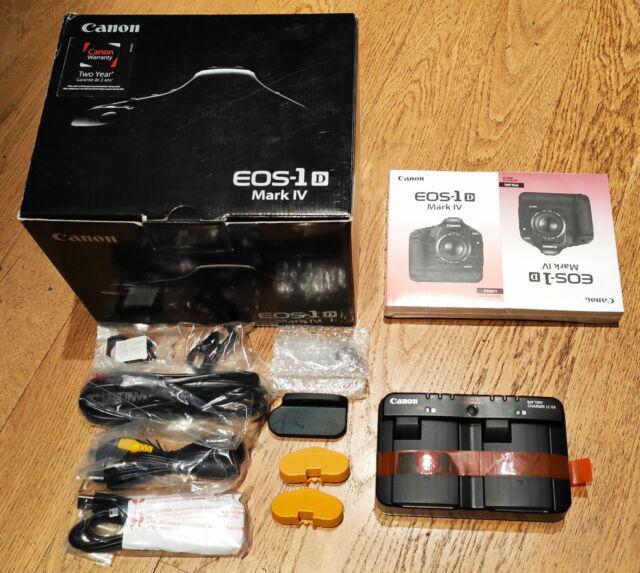 Canon eos 1d mark iv scatola + carica batterie lc-e4 nuovo