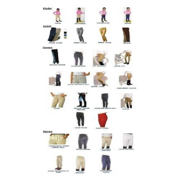 Pantaloni per equitazione nuovi stock 20pz