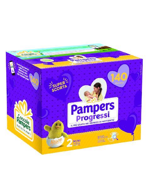 Pampers – pannolini progressi pentapack tg. 2 (140 pz)