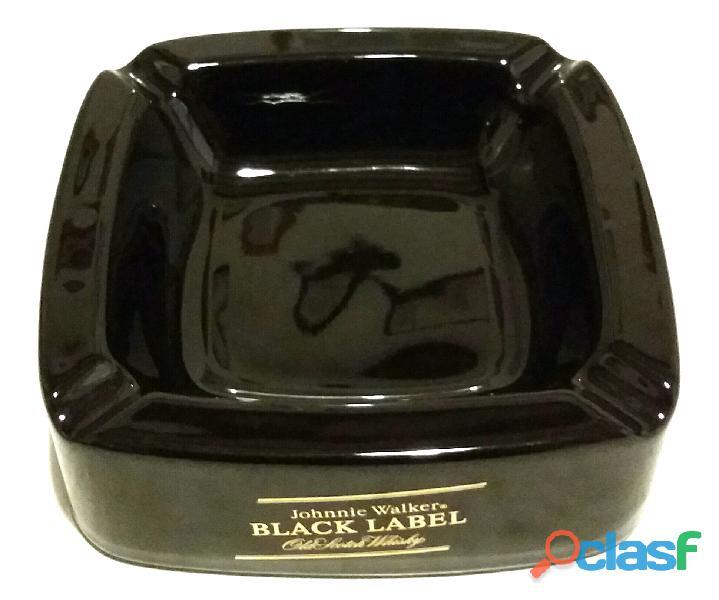 Portacenere in ceramica johnnie walker black label old scotch whisky