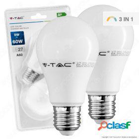 Led bulb - 9w e27 a60 thermoplastic color change 2700k 2 pcs/blister
