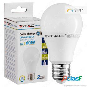 Led bulb - 9w e27 a60 thermoplastic color change - 3 step