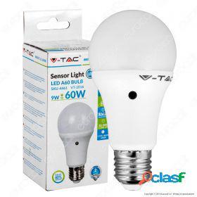 Led bulb - 9w e27 a60 thermoplastic sensor 200d 4500k
