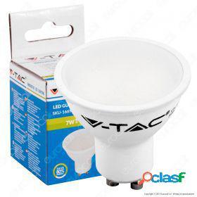 Led spotlight - 7w gu10 white plastic 6000k dimmable