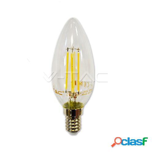 Led bulb - 4w filament e14 candle 2700k
