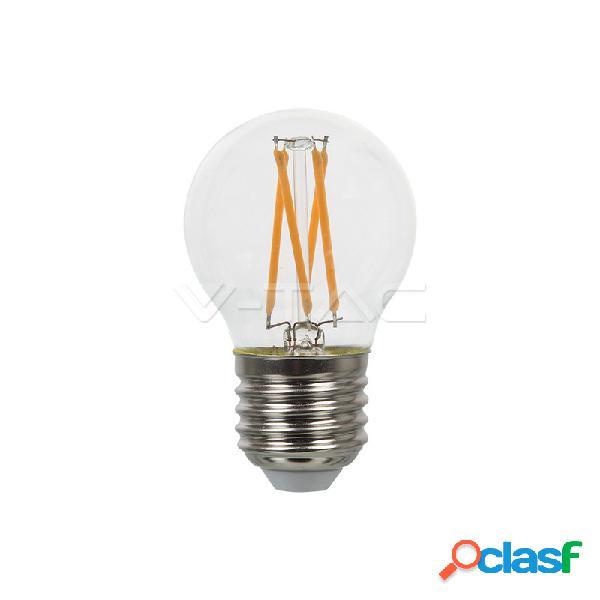 Led bulb - 4w filament e27 g45 clear cover 2700k