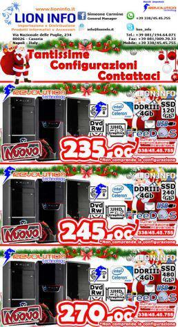 Computer intel varie configurazioni con hard disk solidi