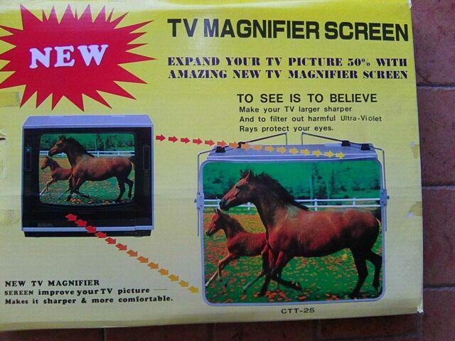 Lente d'ingrandimento per tv a tubo catodico vintage