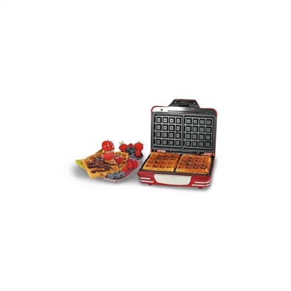 Ariete piastra per waffle party time 700 w rossa