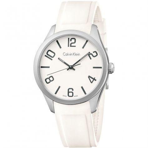 Calvin klein orologio casual white unisex color k5e511k2