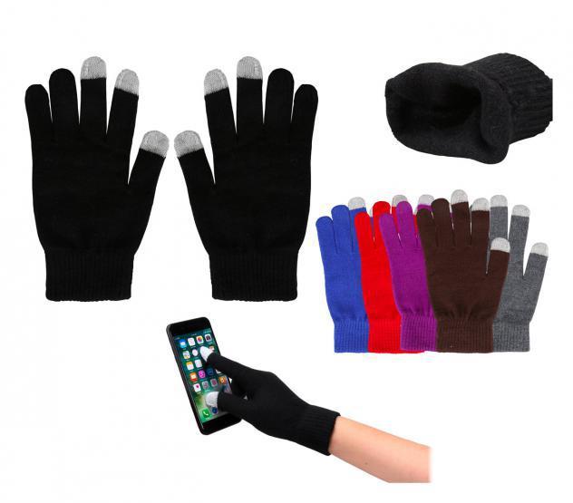 Guanti in lana per smartphones con sistema capacitativo per