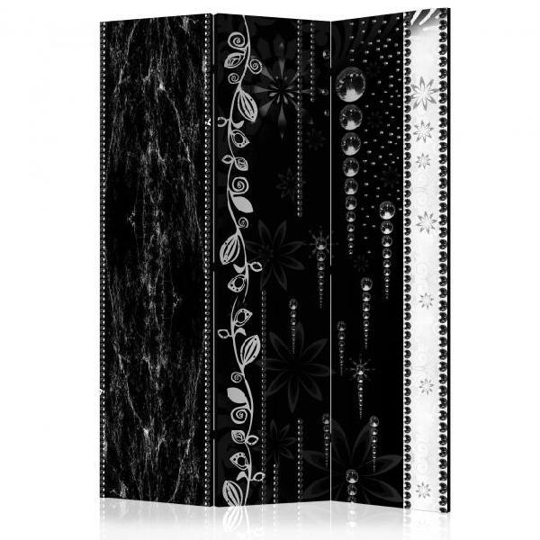 Paravento 3 pannelli - black elegance 135x172cm erroi