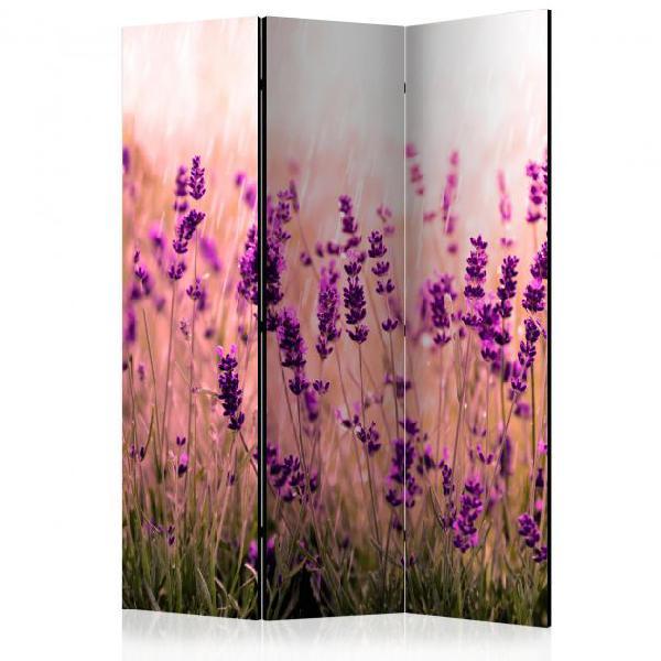 Paravento 3 pannelli - lavender in the rain 135x172cm erroi
