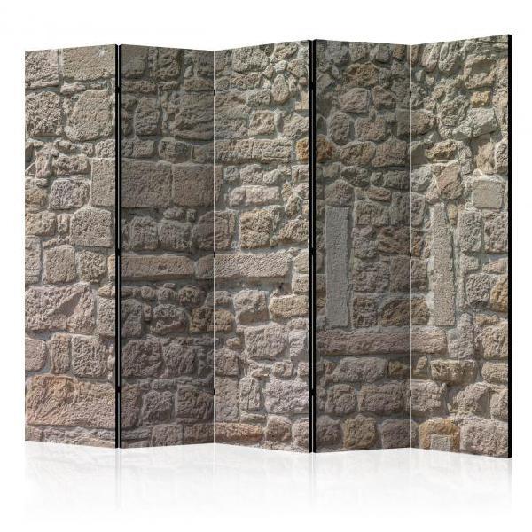 Paravento 5 pannelli - stone temple ii 225x172cm erroi