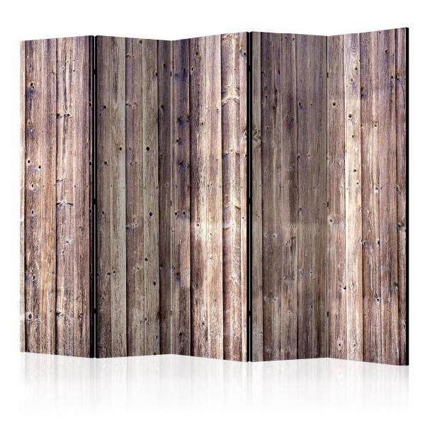 Paravento 5 pannelli - wooden charm ii 225x172cm erroi