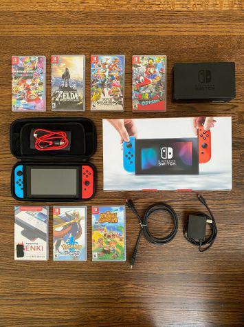 Pacchetto nintendo switch console / giochi / accessori