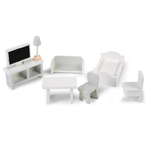 Childhome giocattolo set di mobili in miniatura 8 pz bianco