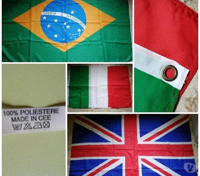 N. 5 bandiere brasile - inghilterra - italia crotone - articoli sportivi e bicicletta in vendita