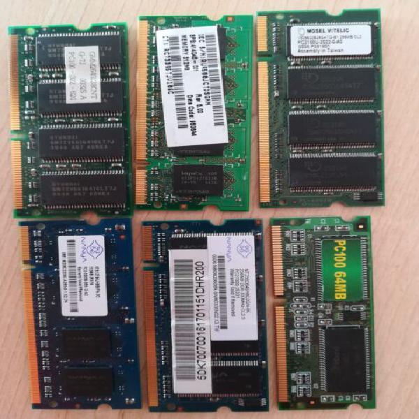 Schede di memoria memory ram per notebook di varia tipologia