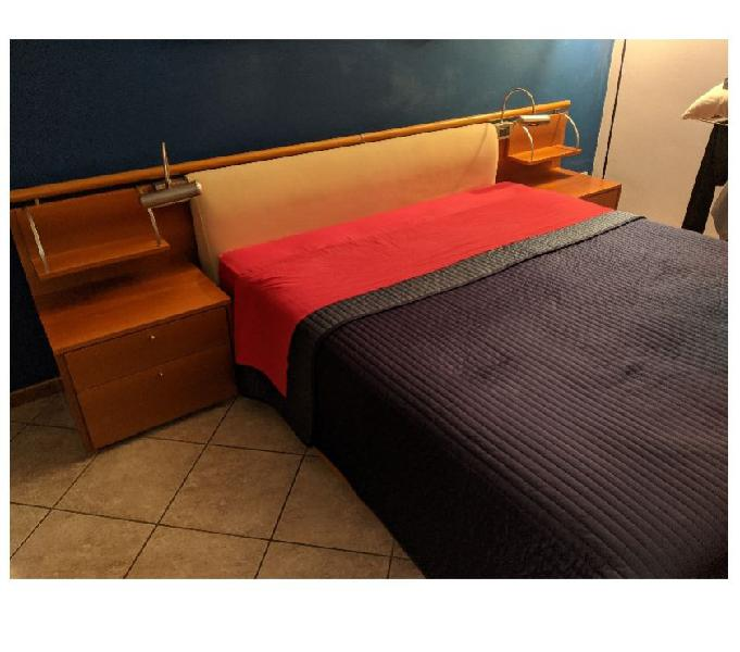 Letto legno - rete + testiera legno + contenitore in vendita milano - vendita mobili usati