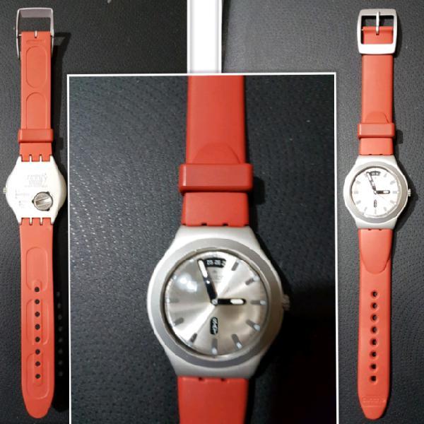 Orologio swatch irony speciale alluminio con batteria
