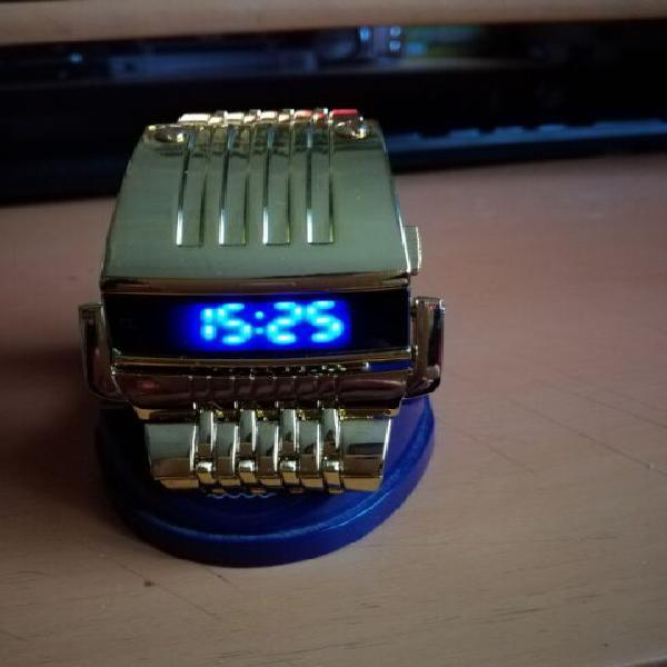 Orologio tipo computron a led azzurri nuovo funzionante