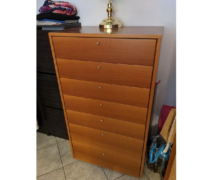 Settimanale legno colore naturale - 7 cassetti in vendita milano - vendita mobili usati