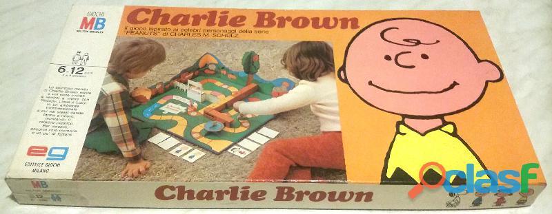 Vintage gioco charlie brown in scatola editrice giochi eg milano anni '70 ottimo