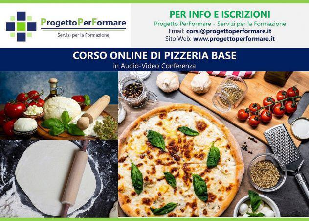 Corso online di pizzeria