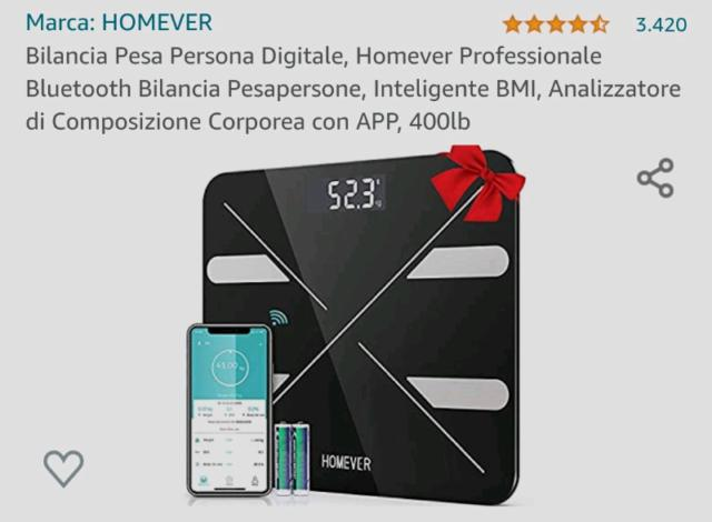 Bilancia bluetooth pesa persona digitale