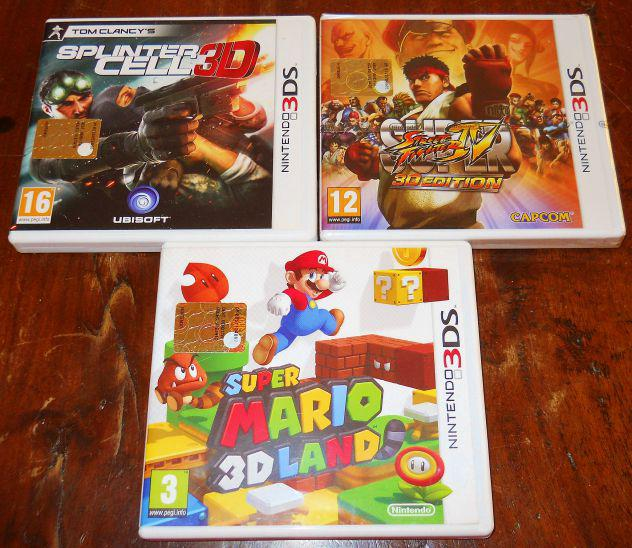 Lotto set 2 giochi nintendo 3ds 2ds super mario 3d land +