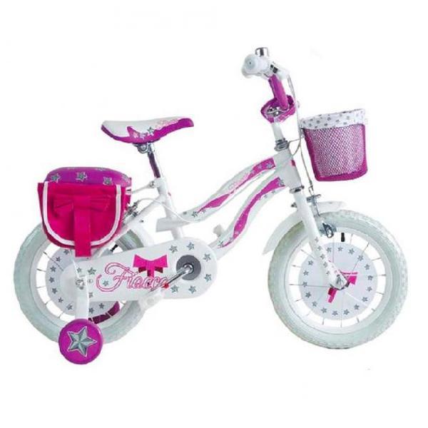 Bicicletta fiocco bkt taglia 12 bici per bambina età 2 - 5