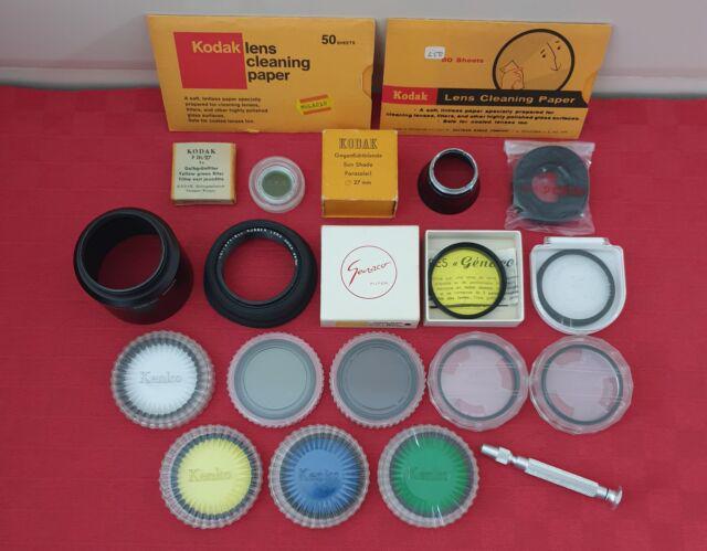 Lotto di vari filtri e accessori fotografici kodak kenko