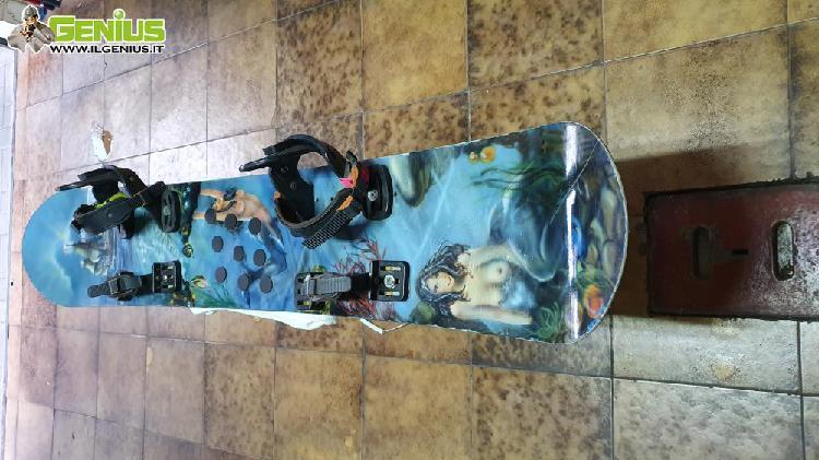 Snowboards lamar mike ranquet vintage con attacchi e