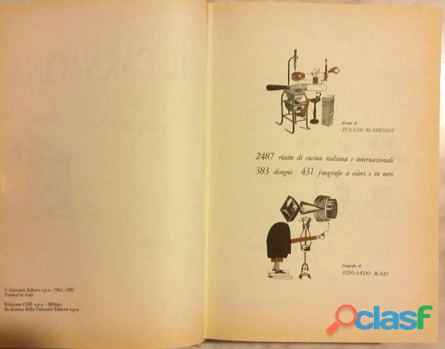 Il Carnacina a cura di Luigi Veronelli Ed.Garzanti 1982 come nuovo 1