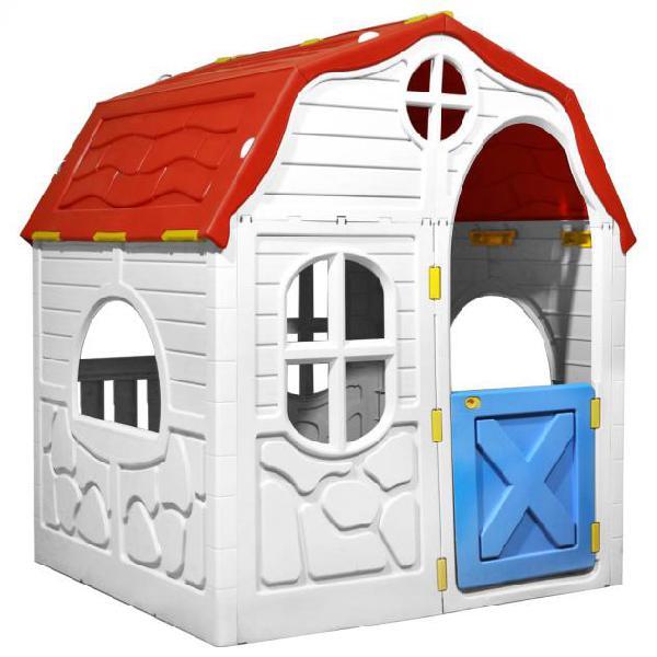Vidaxl casetta per bambini pieghevole con porta e finestre