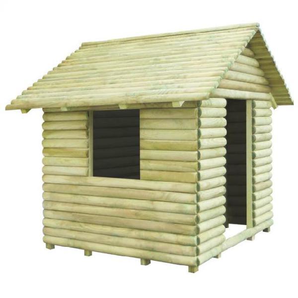 Vidaxl casetta per bambini in legno di pino impregnato