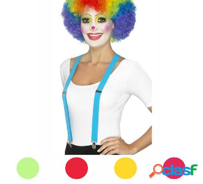 Bretelle da clown in vari colori