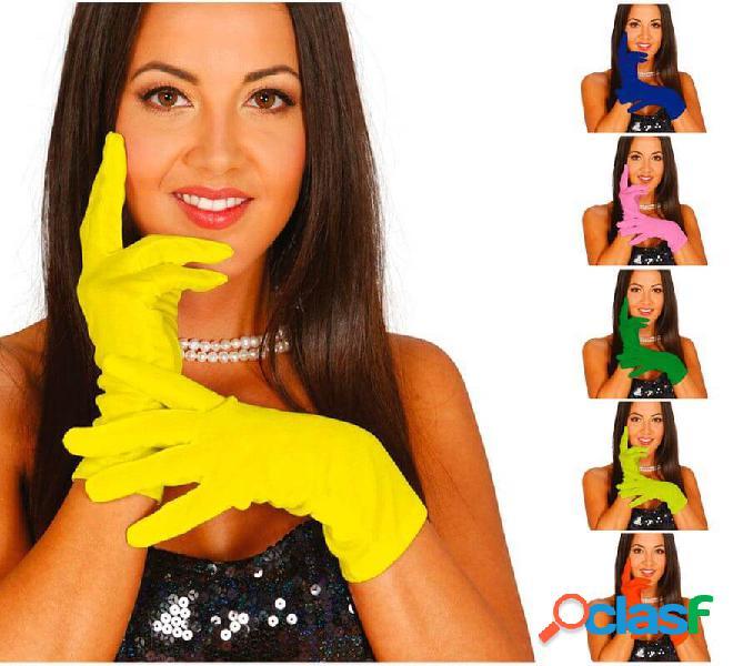 Guanti corti di 20 cm in vari colori