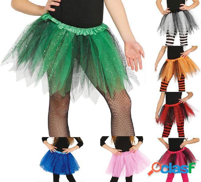 Tutù con brillanti in vari colori per bambine