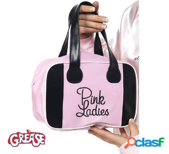 Borsa da donna rosa ingrassata rosa con logo